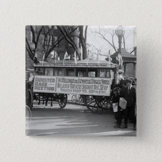 Suffrage Rally, 1919 2 Inch Square Button