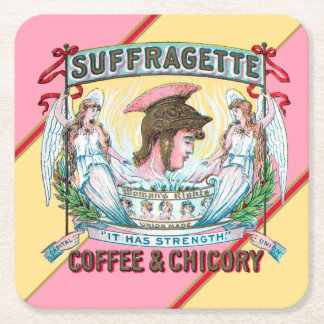 Suffragette Coffee & Chicory Square Paper Coaster