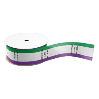 Suffragette: Deeds not Words Grosgrain Ribbon