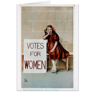 Suffragette in Prison Card