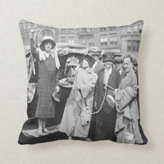 Suffragette Rosalie Jones 1924 Throw Pillow