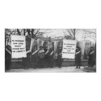 Suffragettes Picket the White House Poster