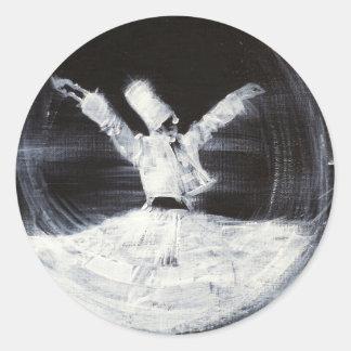 sufi whirling - february 21,2013.JPG Round Sticker
