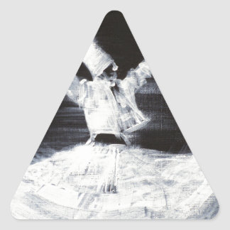 sufi whirling - february 21,2013.JPG Triangle Sticker