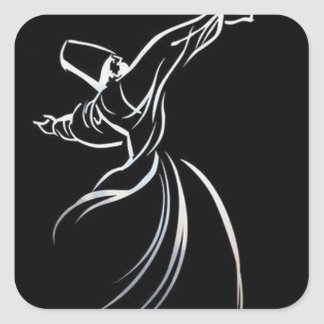 Sufi Whirling Square Sticker
