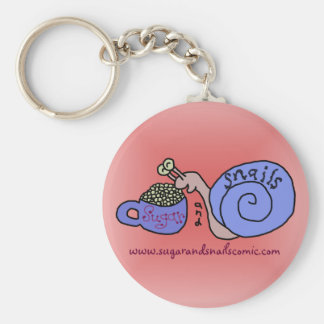 Sugar and Snails Logo Keychain