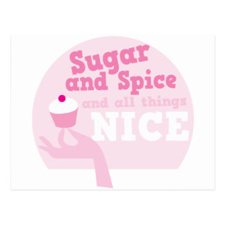 Sugar and spice and all things nice! postcard