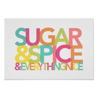 Sugar and Spice and Everything Nice print or poste