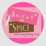 Sugar and spice and everything nice sticker