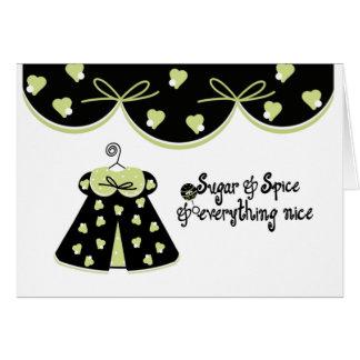 Sugar and Spice Baby Congratulations Card