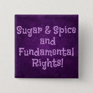 Sugar and Spice feminist button