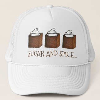Sugar and Spice Gingerbread Cake Christmas Holiday Trucker Hat