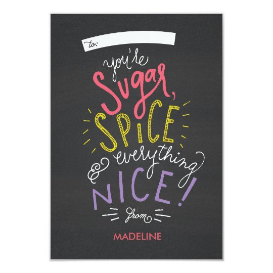 Sugar and Spice Valentine's Card