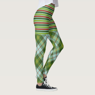 Sugar Beet Tartan & Stripes Leggings