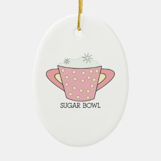 SUGAR BOWL CERAMIC ORNAMENT