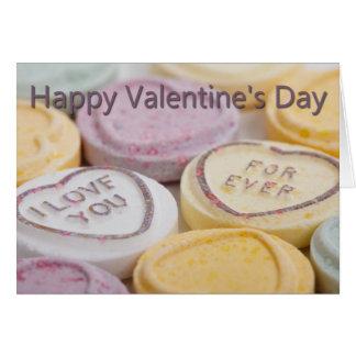 Sugar Candy Hearts Valentines Card