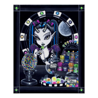 """Sugar"" Candy Store Fairy Poster"