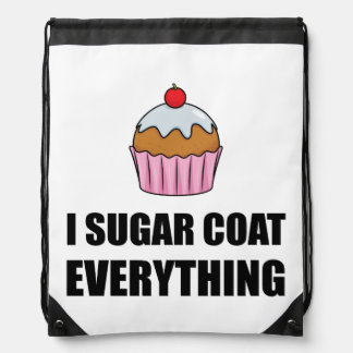 Sugar Coat Everything Cupcake Drawstring Bag