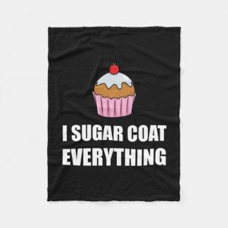 Sugar Coat Everything Cupcake Fleece Blanket