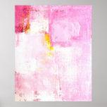 'Sugar Coded' Pink Abstract Art Poster Print