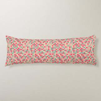 Sugar Geometric Pixel Pattern Body Pillow