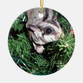 sugar glider Christmas Ceramic Ornament