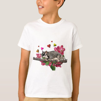 Sugar Glider Hearts and Flowers Apparel T-Shirt