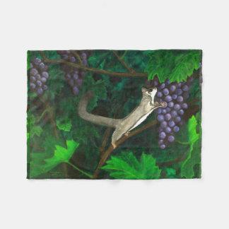 Sugar Glider In Grape Vines Fleece Blanket