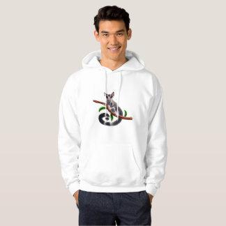 sugar glider on a branch hoodie
