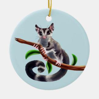 sugar glider on a branch ornament