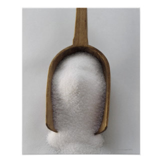 Sugar in a Wooden Scoop Poster