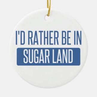 Sugar Land Round Ceramic Ornament