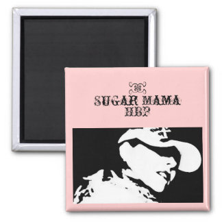 Sugar Mama Magnet Square Black & White