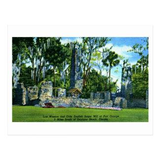 Sugar Mill, Port Orange, Daytona Beach Vintage Postcard