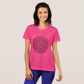"""Sugar pink"" designers tshirt with Mandala"