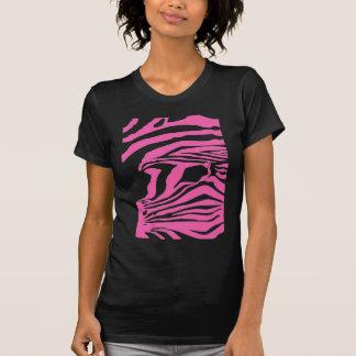 Sugar pink zebra print ladies t-shirt