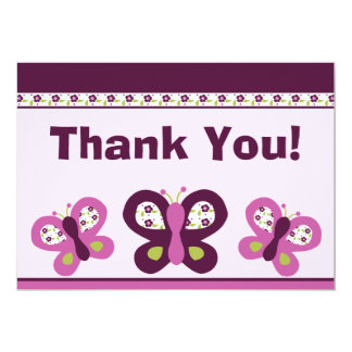 Sugar Plum Butterflies #2 Thank You Card