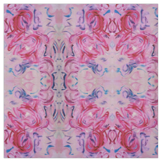 Sugar Plum - Colorful Abstract Art Handpainted Fabric