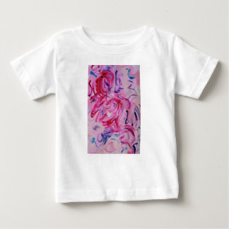 Sugar Plum-Hand Painted Abstract Brushstrokes Baby T-Shirt