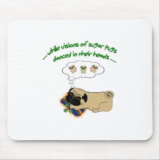 Sugar Pug Christmas Mouse Pad