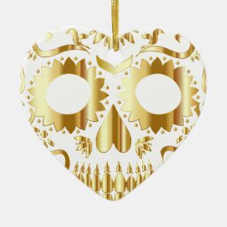 sugar-skull-1782019 ceramic heart ornament