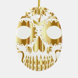 sugar-skull-1782019 ceramic oval ornament