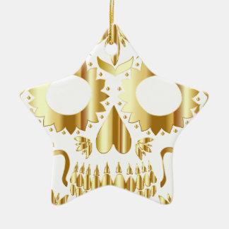 sugar-skull-1782019 ceramic star ornament