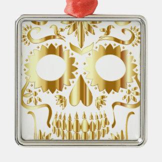 sugar-skull-1782019 Silver-Colored square ornament