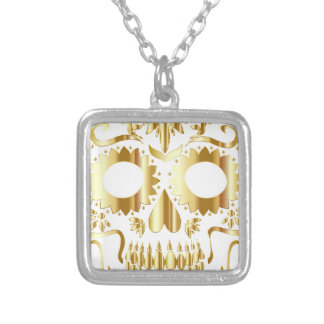 sugar-skull-1782019 silver plated necklace