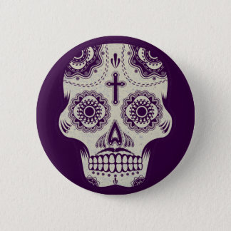 Sugar skull 2 inch round button