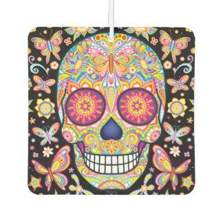 Sugar Skull Air Freshener - Day of the Dead Art