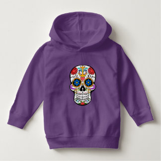 Sugar Skull anchor rose  hoodie sweater purple