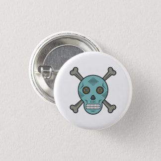 Sugar skull and bones 1 inch round button