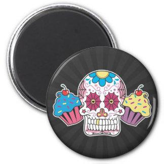 Sugar Skull and Cupcakes Magnet